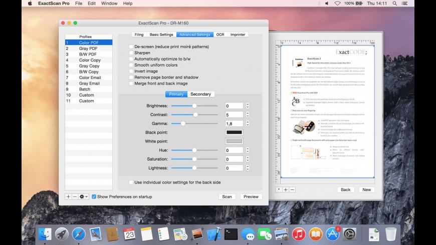 ExactScan Pro for Mac - review, screenshots