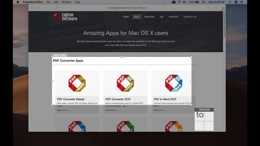 Screenshot Editor for Mac - review, screenshots