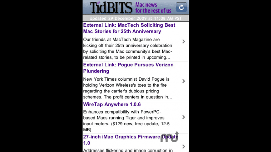 TidBITS News for Mac - review, screenshots