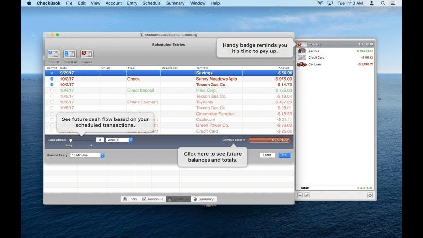 CheckBook for Mac - review, screenshots