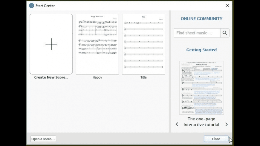 MuseScore for Mac - review, screenshots