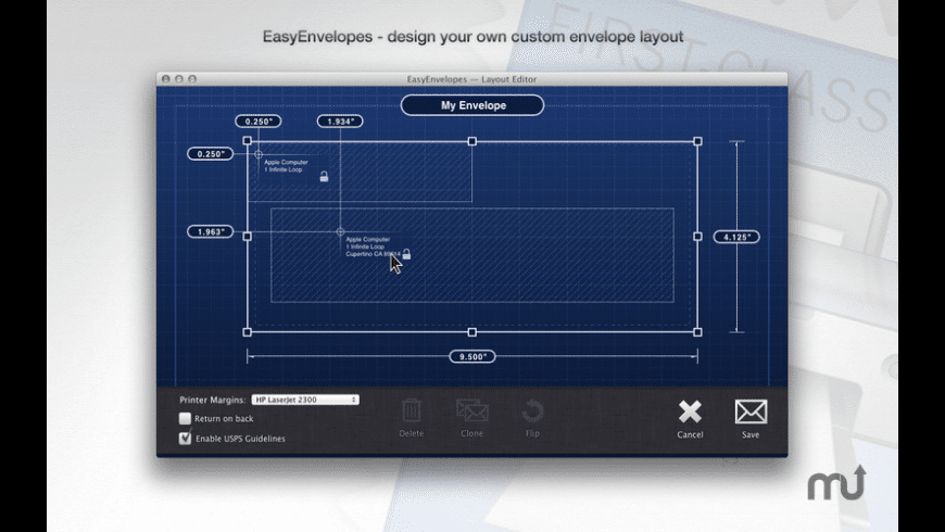 EasyEnvelopes for Mac - review, screenshots
