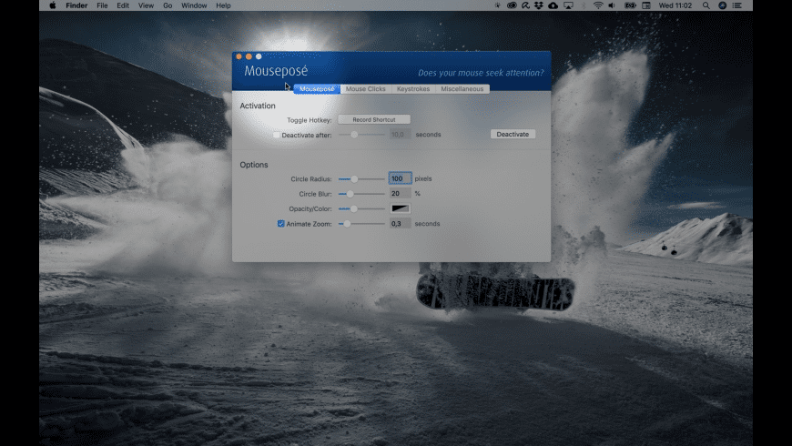 Mouseposé for Mac - review, screenshots