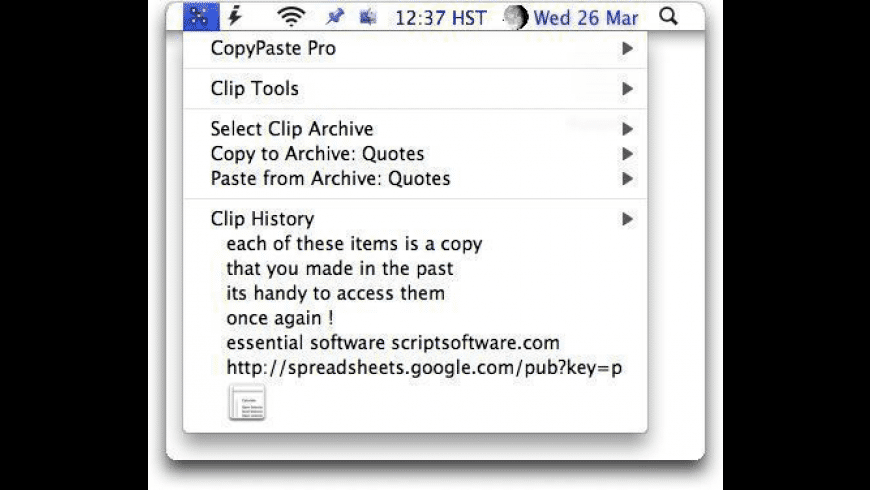 CopyPaste Pro for Mac - review, screenshots