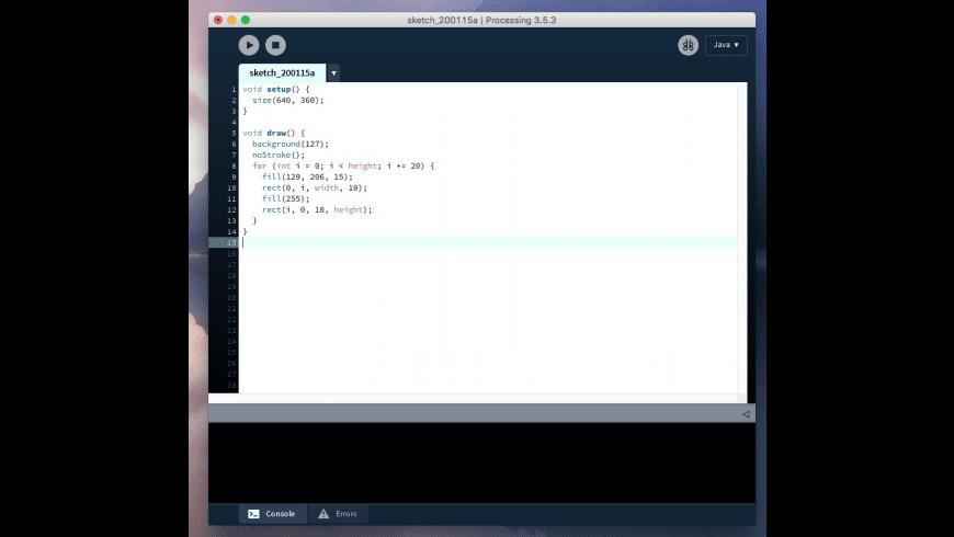 Processing for Mac - review, screenshots