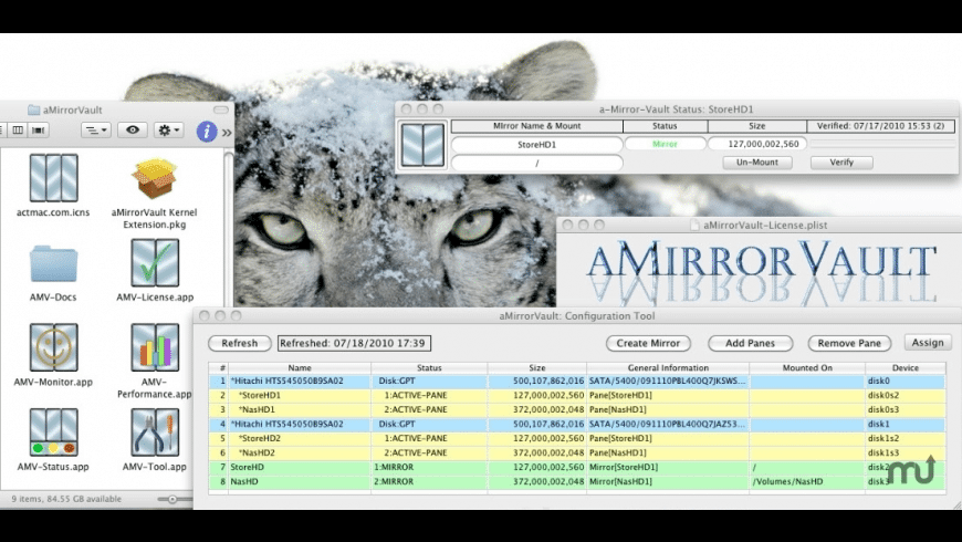 aMirrorVault for Mac - review, screenshots