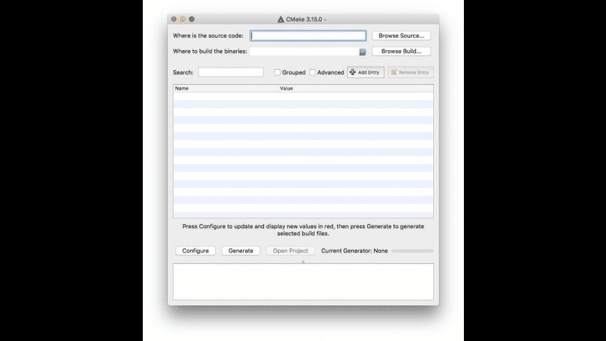 CMake for Mac - review, screenshots