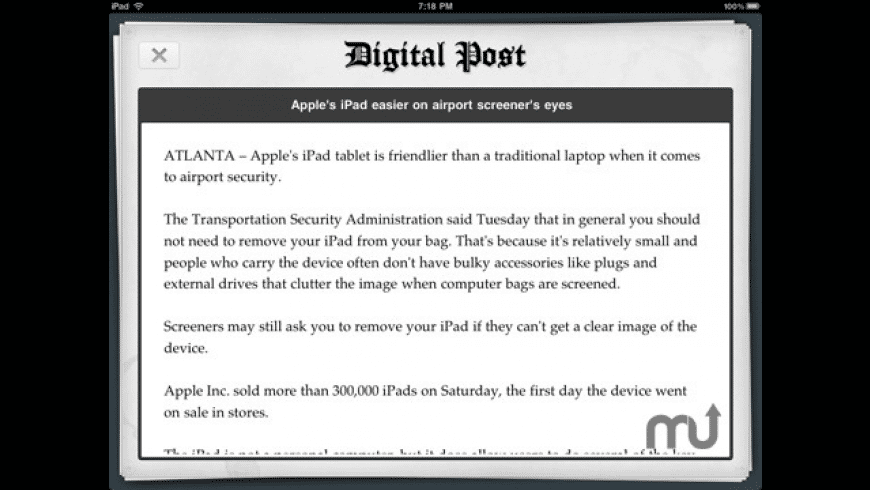 Digital Post ~ Newspaper For iPad for Mac - review, screenshots