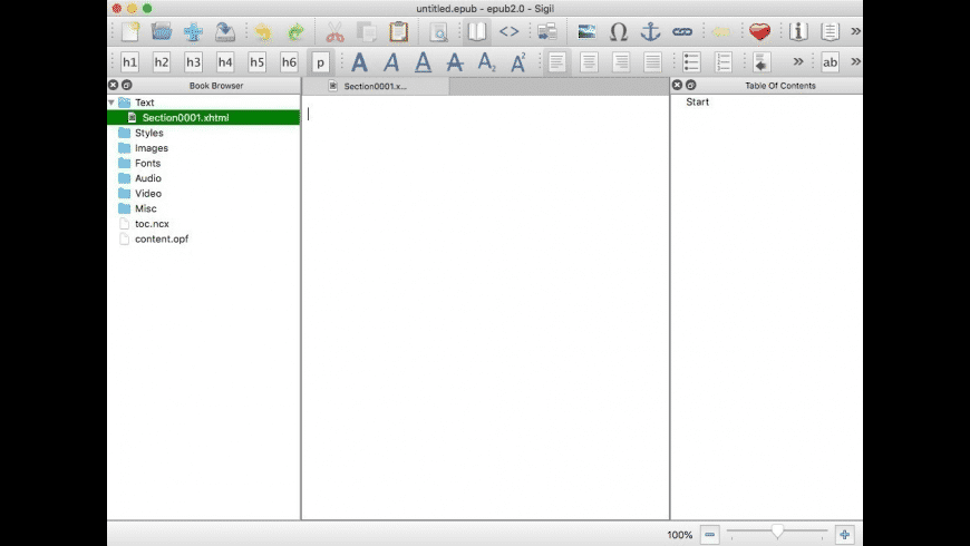 Sigil for Mac - review, screenshots