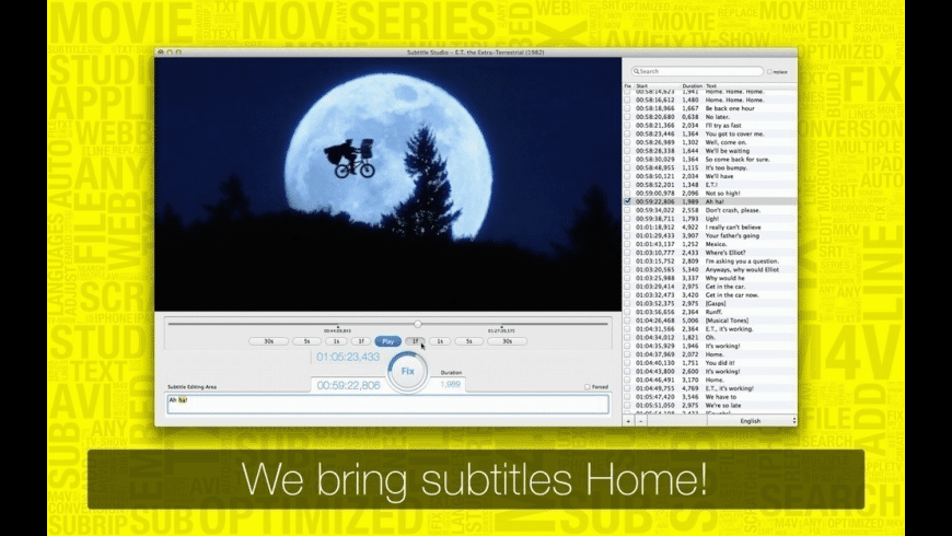 Subtitle Studio for Mac - review, screenshots