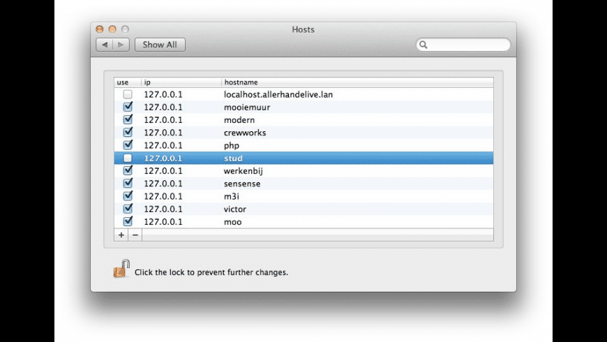 Hosts for Mac - review, screenshots