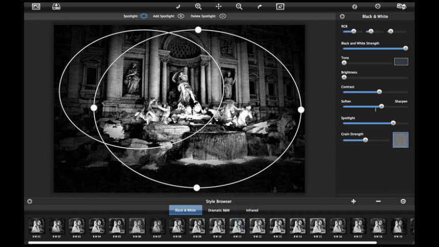 Dramatic Black & White for Mac - review, screenshots