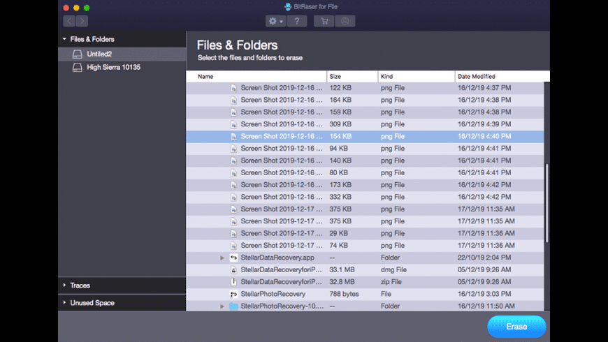 Bitraser for Mac - review, screenshots