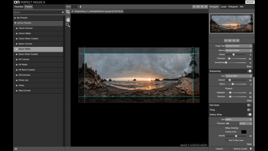 ON1 Resize 2019 for Mac - review, screenshots