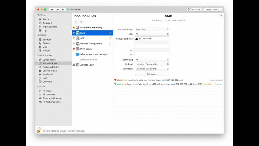 Murus Pro for Mac - review, screenshots