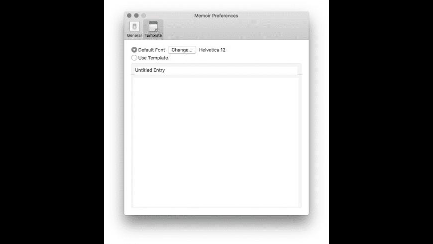Memoir for Mac - review, screenshots