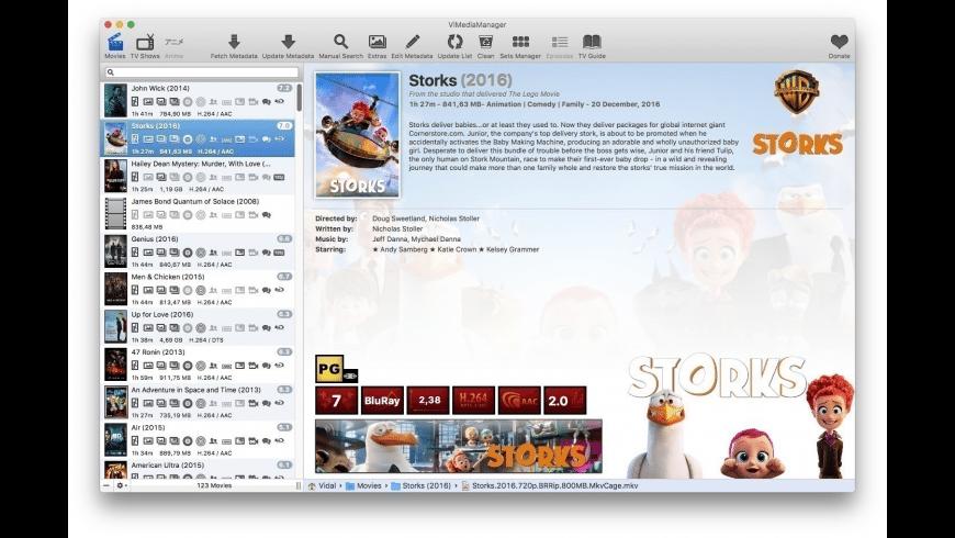 ViMediaManager for Mac - review, screenshots