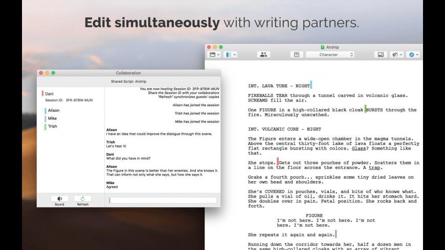 Final Draft for Mac - review, screenshots