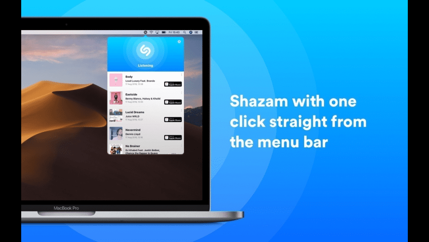 Shazam for Mac - review, screenshots
