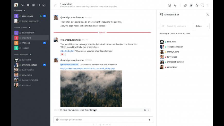 Rocket.Chat for Mac - review, screenshots