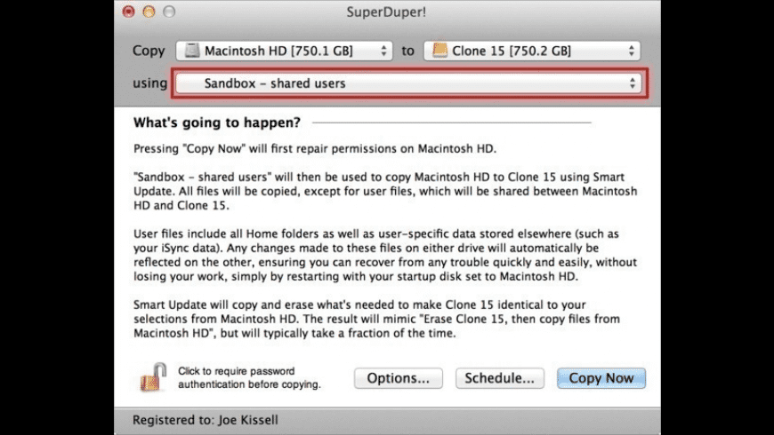 SuperDuper! for Mac - review, screenshots