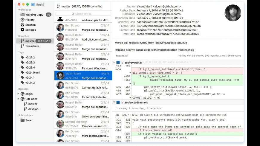 GitFinder for Mac - review, screenshots