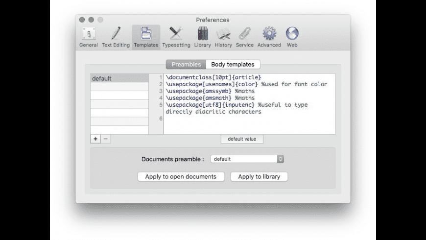 LaTeXiT for Mac - review, screenshots