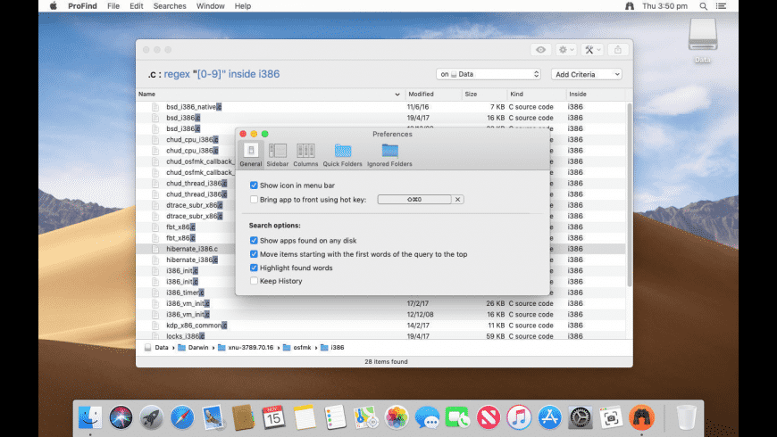 ProFind for Mac - review, screenshots