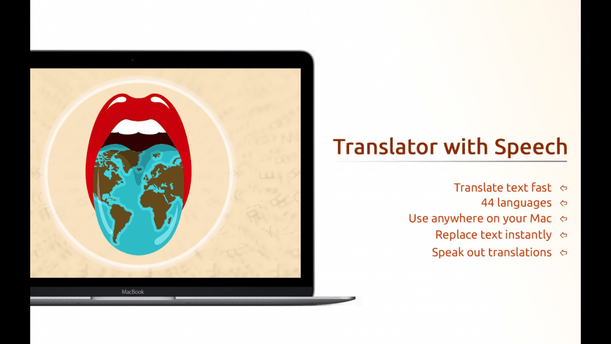 Translator with Speech Pro for Mac - review, screenshots