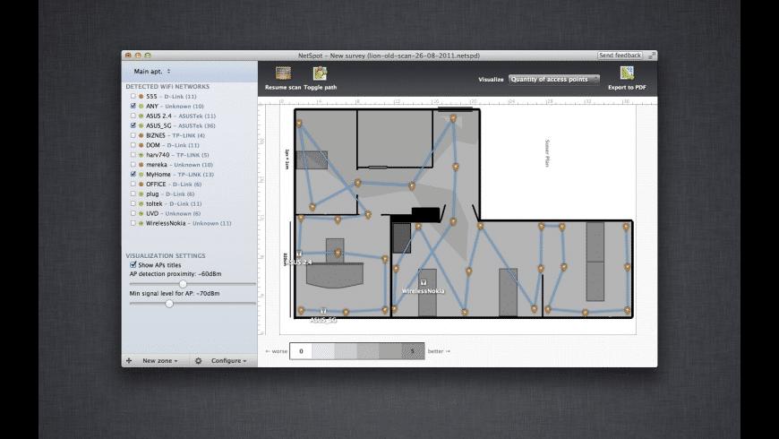 NetSpot for Mac - review, screenshots