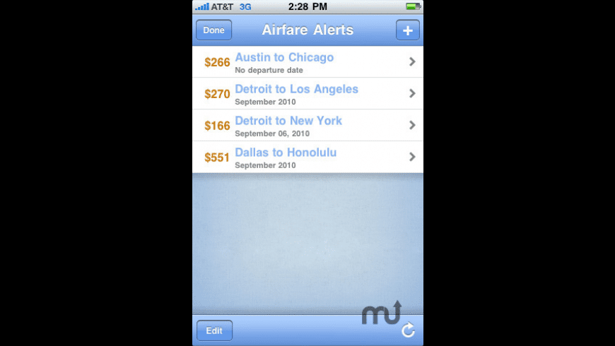 FareCompare When-to-Fly Airfare Alerts for Mac - review, screenshots