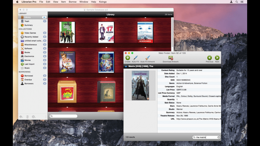 Librarian Pro for Mac - review, screenshots