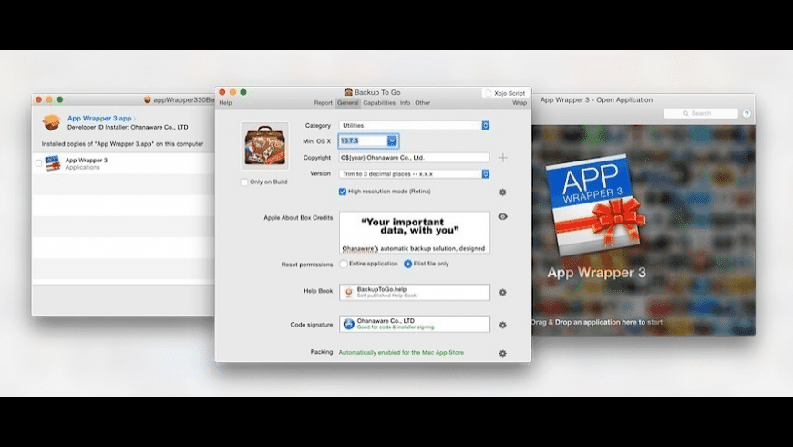 App Wrapper for Mac - review, screenshots