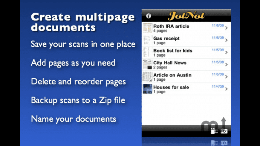 JotNot Scanner Pro for Mac - review, screenshots