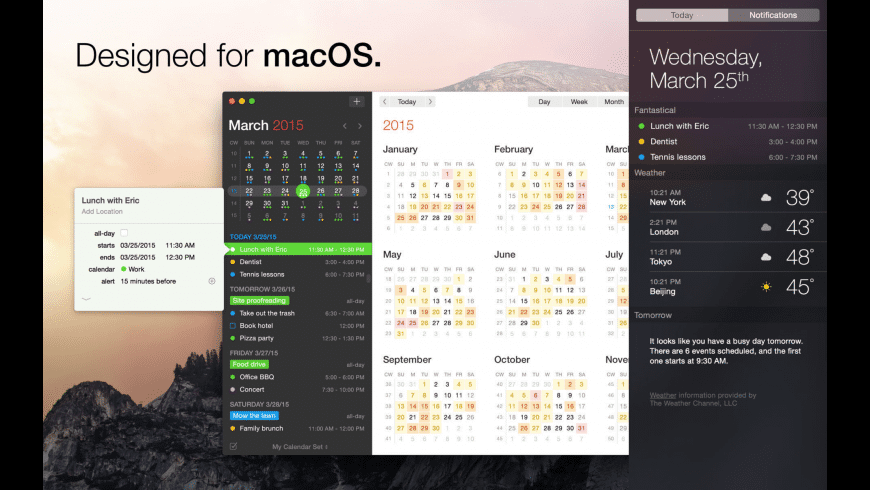 Fantastical for Mac - review, screenshots