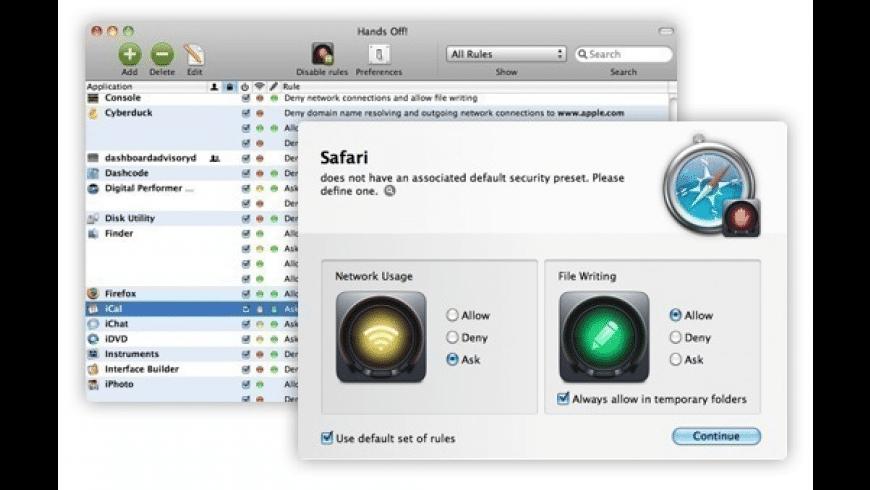 Hands Off! for Mac - review, screenshots