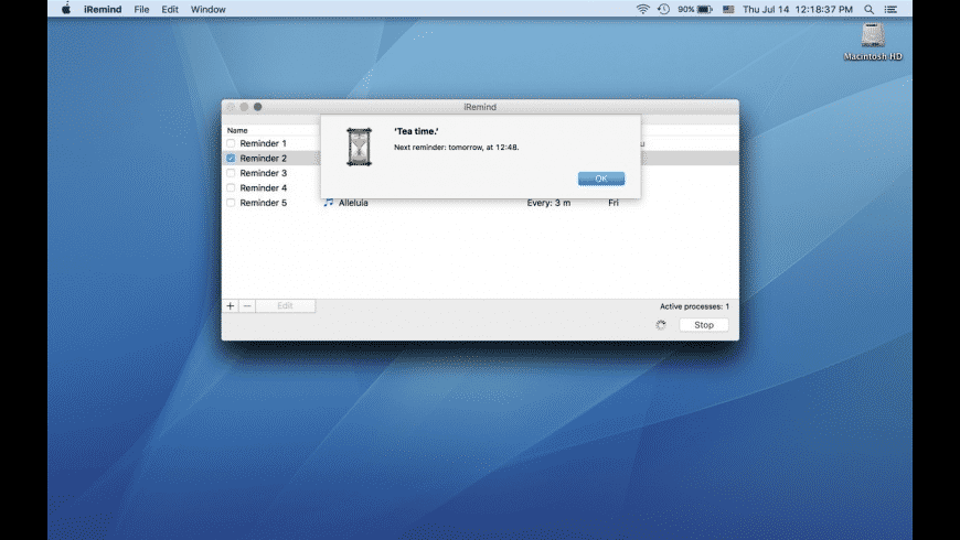 iRemind for Mac - review, screenshots