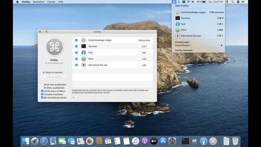 HotKey for Mac - review, screenshots