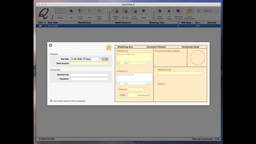 QuickPay for Mac - review, screenshots