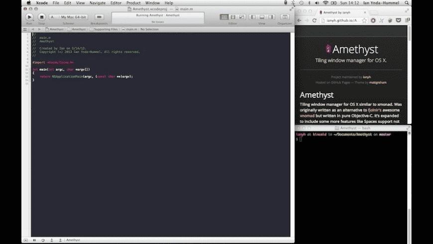 Amethyst for Mac - review, screenshots