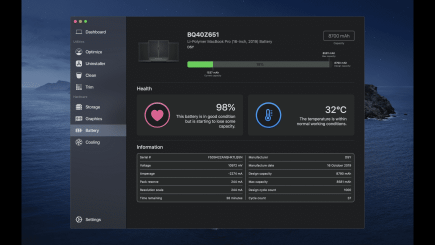 Sensei for Mac - review, screenshots