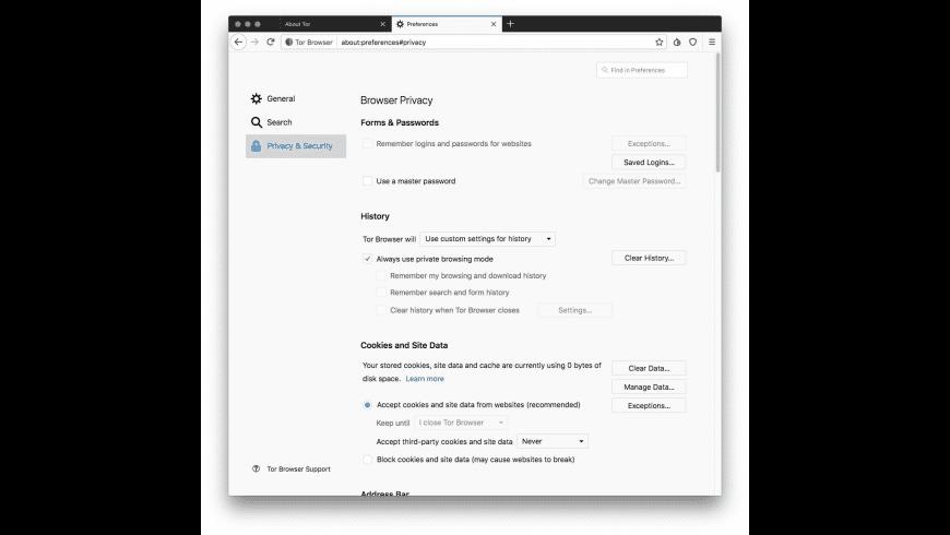 Tor Browser for Mac - review, screenshots
