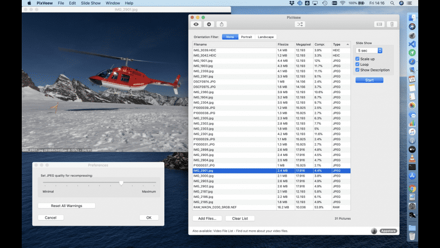 PixVeew for Mac - review, screenshots