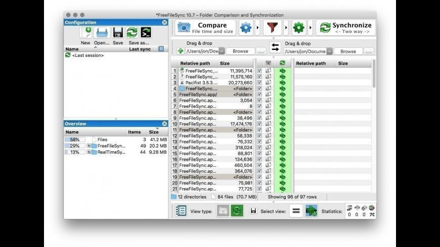 FreeFileSync for Mac - review, screenshots