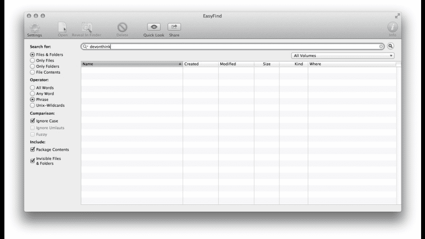 EasyFind for Mac - review, screenshots