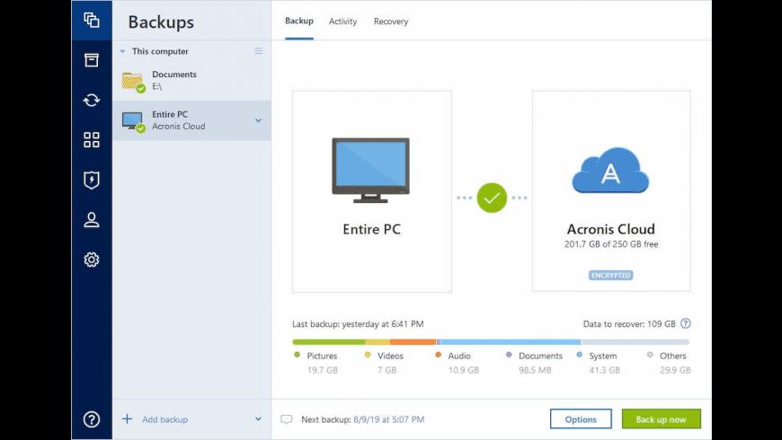Acronis True Image for Mac - review, screenshots