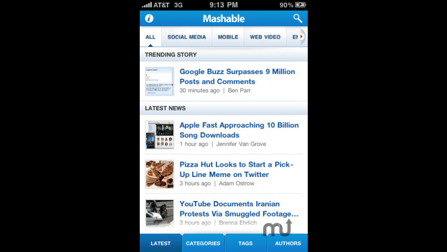 Mashable! for Mac - review, screenshots