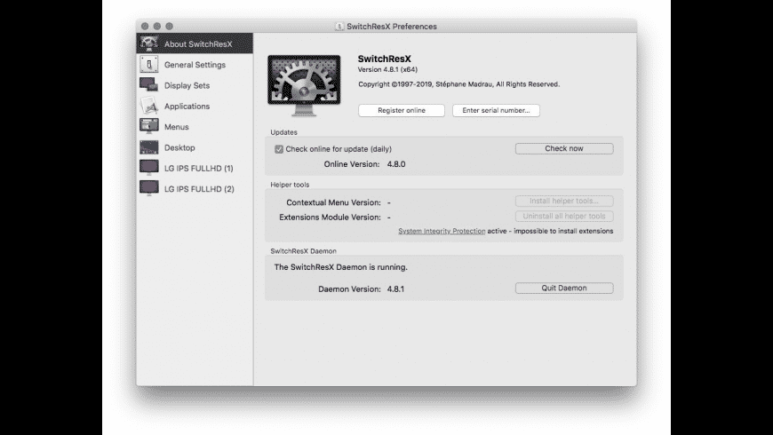SwitchResX for Mac - review, screenshots
