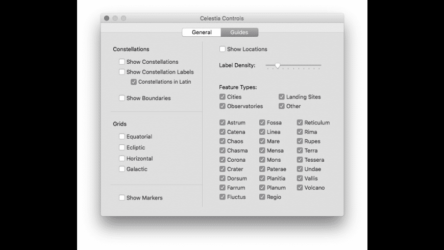 Celestia for Mac - review, screenshots