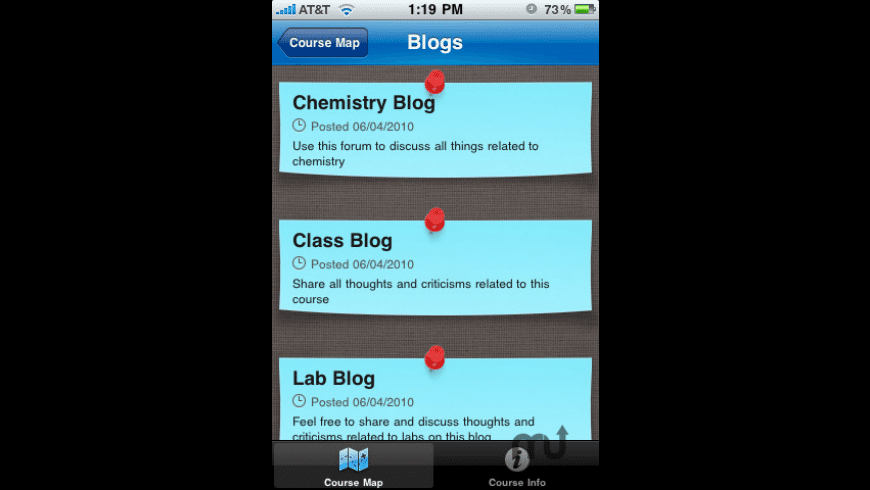 Blackboard Mobile Learn for iPhone for Mac - review, screenshots
